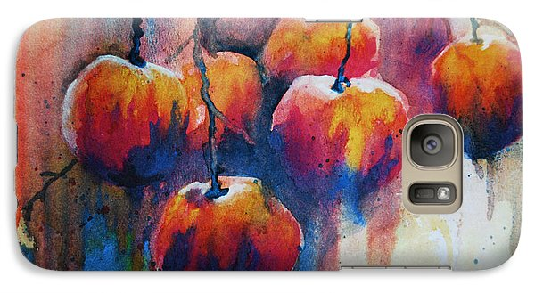 Galaxy Case featuring the painting Winter Apples by Jani Freimann