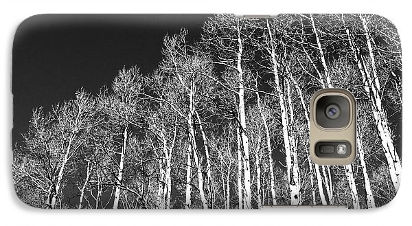 Galaxy Case featuring the photograph Winter Aspens by Roselynne Broussard