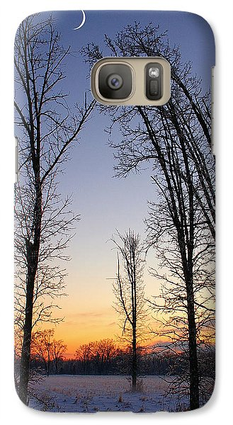 Galaxy Case featuring the photograph Winter At Dusk by Randy Pollard