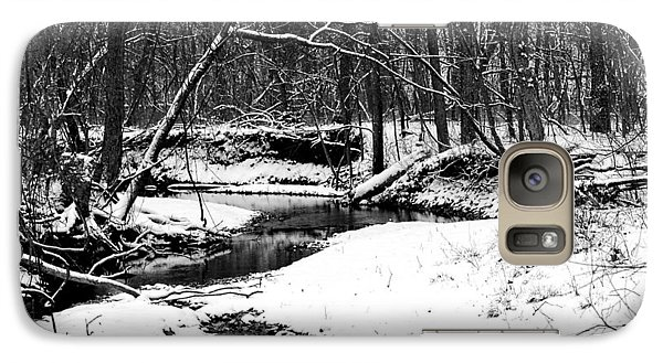 Galaxy Case featuring the photograph Winter At Pedelo Black And White by Deena Stoddard