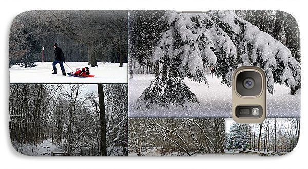 Galaxy Case featuring the photograph Winter At Petrifying Springs Park by Kay Novy