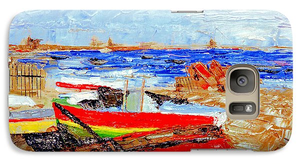 Galaxy Case featuring the painting Winter At Provincetown by Michael Daniels