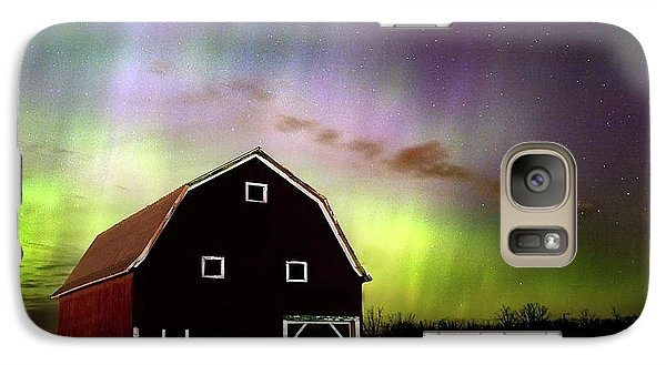 Galaxy Case featuring the photograph Winter Aurora by Timothy McIntyre
