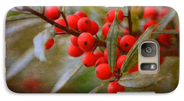 Galaxy Case featuring the photograph Winter Berries by Linda Segerson