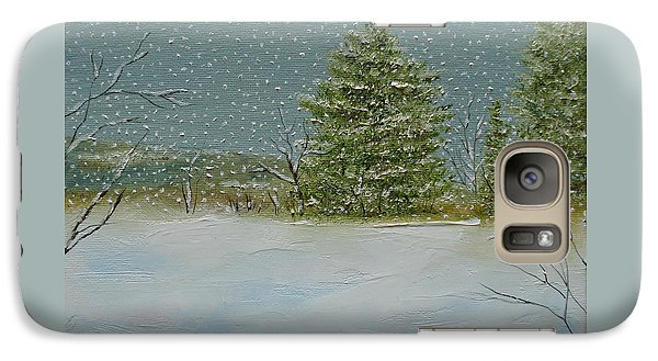 Galaxy Case featuring the painting Winter Blanket by Judith Rhue