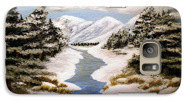 Galaxy Case featuring the painting Winter Bliss by Sheri Keith