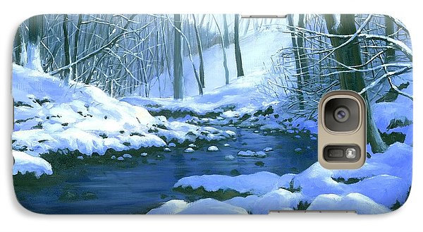 Galaxy Case featuring the painting Winter Blues - Sold by Michael Swanson