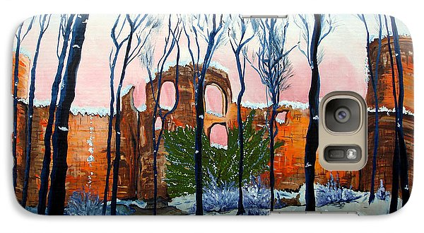 Galaxy Case featuring the painting Winter Castle by Daniel Janda