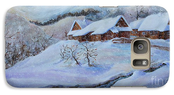 Galaxy Case featuring the painting Winter Charm by Marta Styk