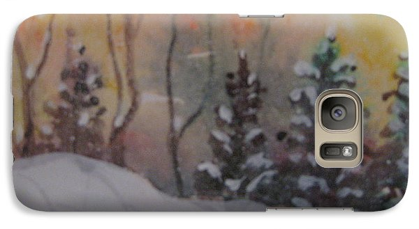 Galaxy Case featuring the painting Winter Cold by Gretchen Allen