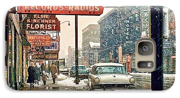 Galaxy Case featuring the photograph Winter Day On Euclid Avenue by Ludwig Keck
