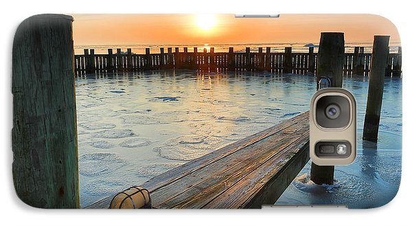 Galaxy Case featuring the photograph Winter Docks by Jennifer Casey