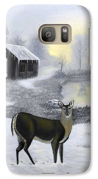 Galaxy Case featuring the painting Winter Doe by Sheri Keith