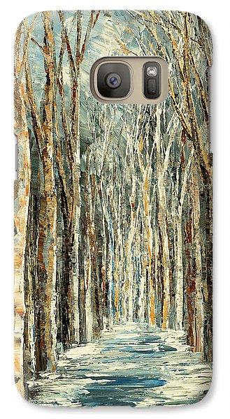 Galaxy Case featuring the painting Winter Dreams by Tatiana Iliina