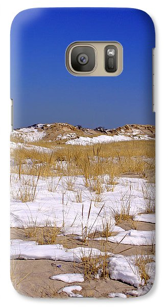 Galaxy Case featuring the photograph Winter Dunes Fire Island by Karen Silvestri