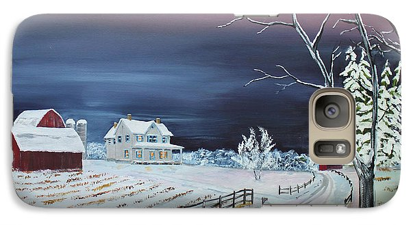 Galaxy Case featuring the painting Winter Dusk by Jack G  Brauer