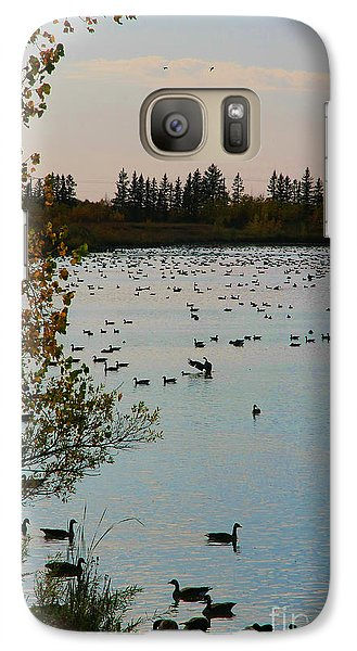 Galaxy Case featuring the photograph Winter Escape Gathering by Teresa Zieba