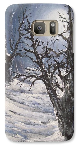 Galaxy Case featuring the painting Winter Eve by Megan Walsh