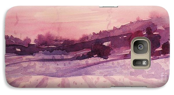 Galaxy Case featuring the painting Winter Evening by Suzanne McKay