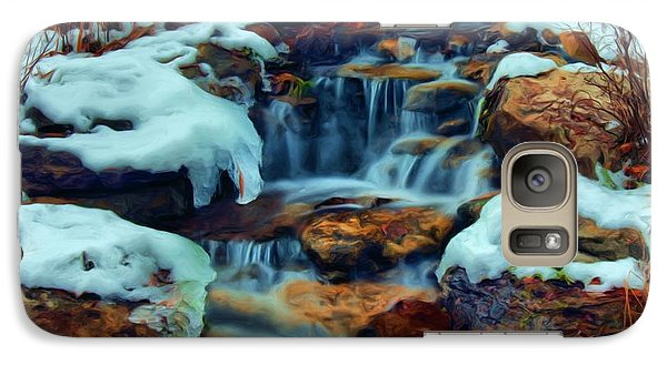 Galaxy Case featuring the digital art Winter Falls by Dennis Lundell