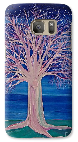 Galaxy Case featuring the painting Winter Fantasy Tree by First Star Art