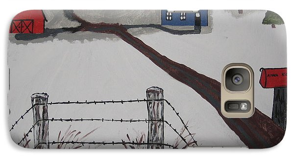 Galaxy Case featuring the painting Winter Farm by Jeffrey Koss