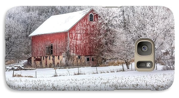 Galaxy Case featuring the photograph Winter Farm by Kelly Marquardt