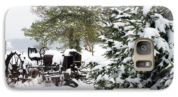 Galaxy Case featuring the photograph Winter Farm Landscape by Michelle Joseph-Long