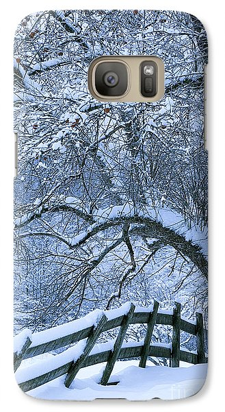 Galaxy Case featuring the photograph Winter Fence by Alan L Graham