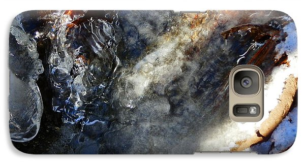Galaxy Case featuring the photograph Winter  Flows by Carolyn Cable