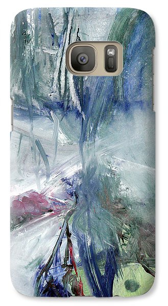 Galaxy Case featuring the painting Winter Forest Painting by John Fish