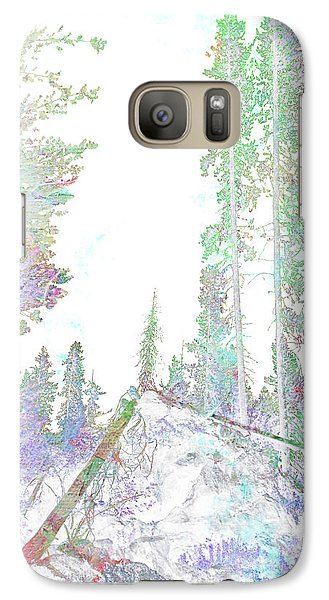 Galaxy Case featuring the digital art Winter Forest Scene by John Fish