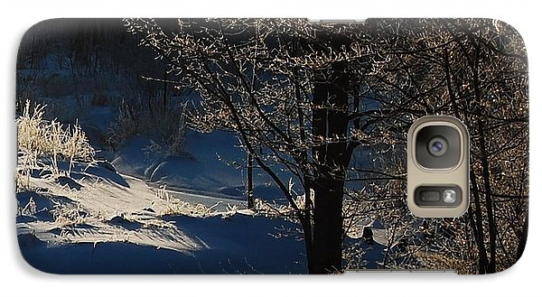 Galaxy Case featuring the photograph Winter Glow by Mim White