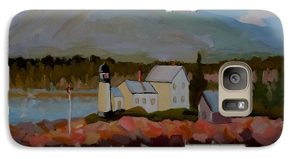 Galaxy Case featuring the painting Winter Harbor Light by Francine Frank