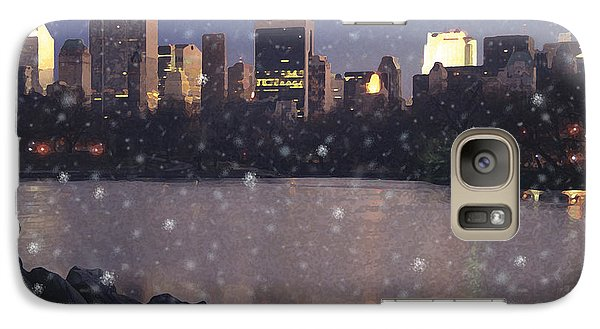 Galaxy Case featuring the digital art Winter In Central Park by David Klaboe