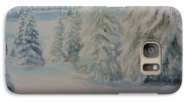 Galaxy Case featuring the painting Winter In Gyllbergen by Martin Howard