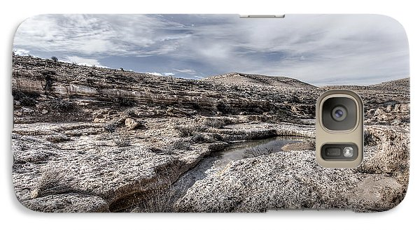 Galaxy Case featuring the photograph Winter In The Desert by Uri Baruch