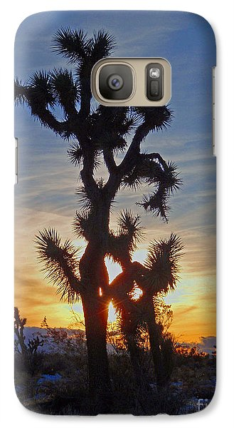 Galaxy Case featuring the photograph Winter Joshua by Suzette Kallen