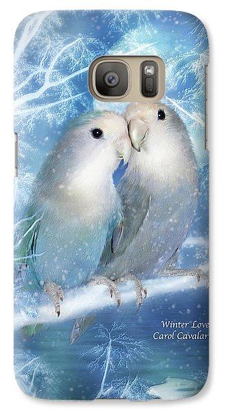 Lovebird Galaxy S7 Case - Winter Love by Carol Cavalaris