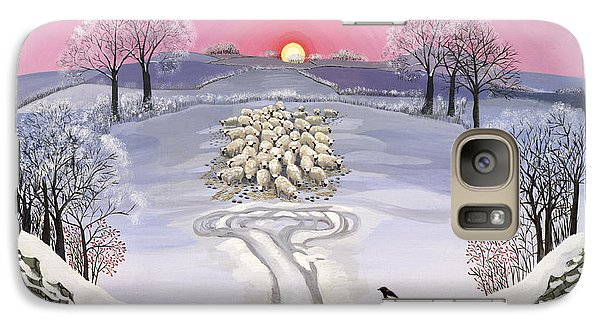 Magpies Galaxy S7 Case - Winter by Maggie Rowe
