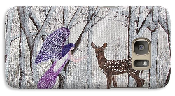 Galaxy Case featuring the painting Winter Magic by Cheryl Bailey