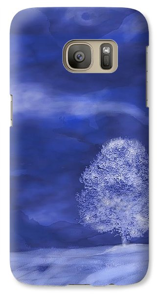 Galaxy Case featuring the digital art Winter Mist by Mary Armstrong