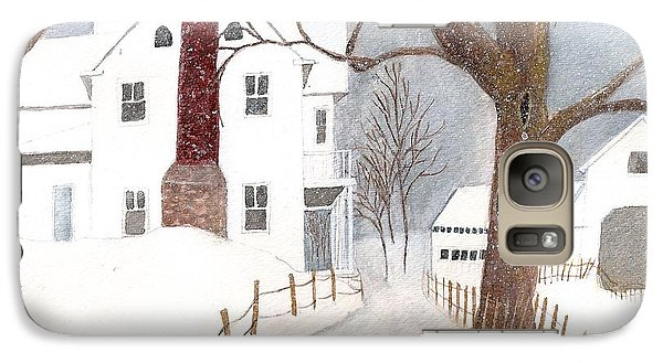 Galaxy Case featuring the painting Winter Morning At The Big White House by June Holwell