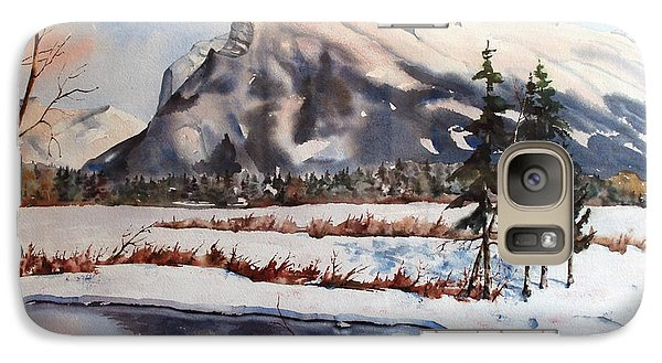 Galaxy Case featuring the painting Winter Near Banff by Marta Styk