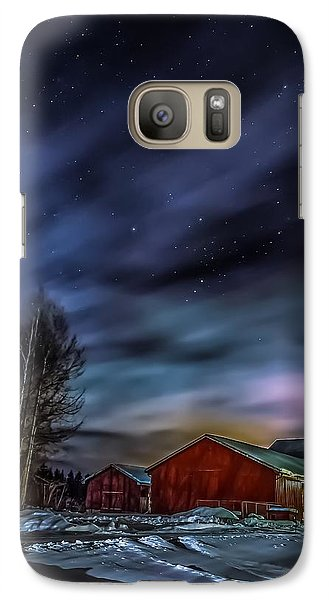 Galaxy Case featuring the photograph Winter Night by Rose-Maries Picturtes