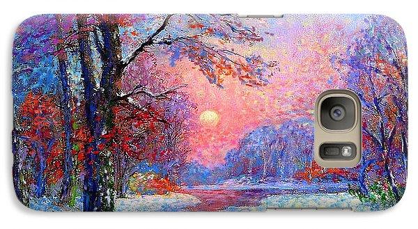 Winter Nightfall, Snow Scene  Galaxy S7 Case