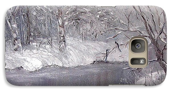 Galaxy Case featuring the painting Winter by Nina Mitkova