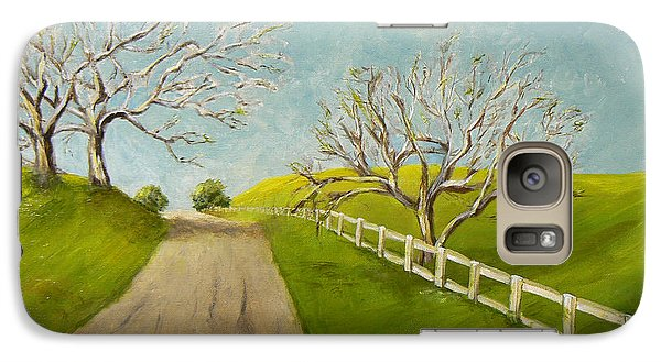 Galaxy Case featuring the painting Winter Oaks by Terry Taylor