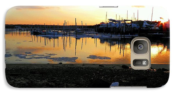 Galaxy Case featuring the photograph Winter On Sesuit Harbor by Amazing Jules