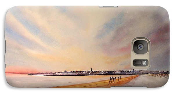 Winter On St Andrews Scotland Galaxy S7 Case by Beatrice Cloake
